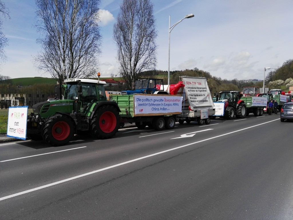 Protestfahrt nach Wien